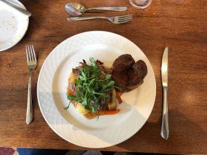 Roast beef at Dunston Hall