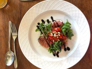 Roasted red pepper starter at The Brasserie Dunston Hall