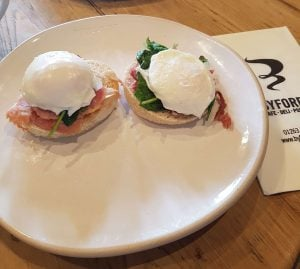 Poached eggs at Byfords Holt