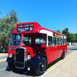 Vintage bus to Long Stratton