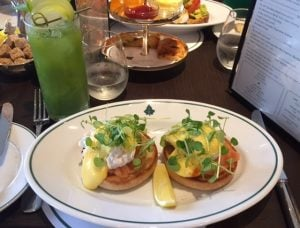 eggs royale at The Ivy Brasserie