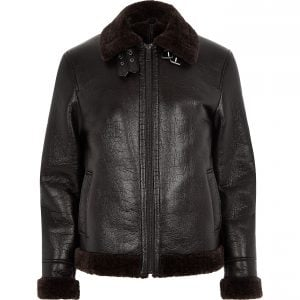 River Island Shearling Aviator Jacket
