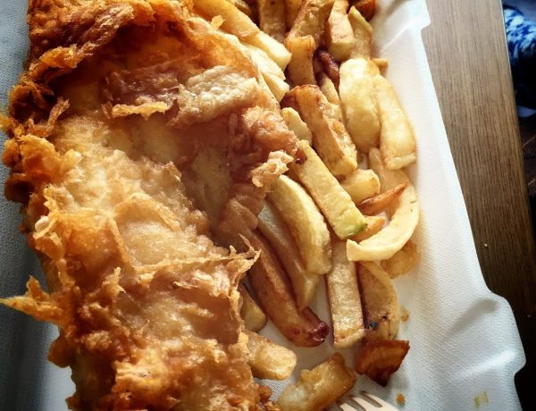 in Norfolk   Fish and chips at French's