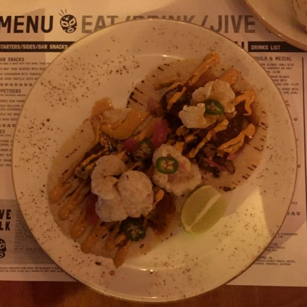 Pork Taco at Jive Kitchen Norwich