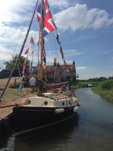 Boat moored in Cley next the Sea