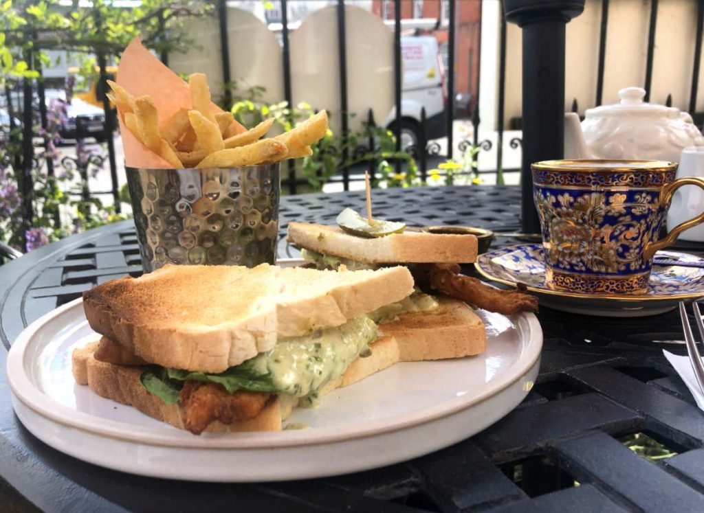 Fish Finger Sandwich at The Dial House