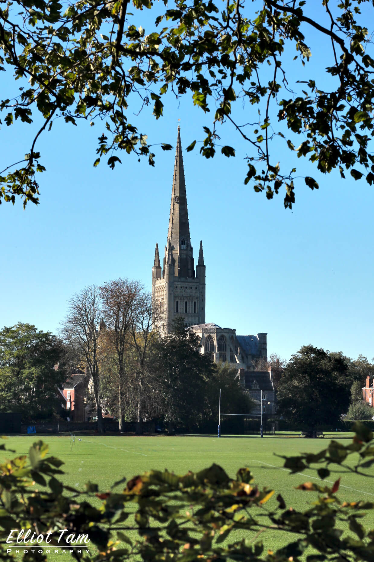 Norwich Cathedral from the River Wensum